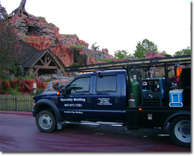 Specialty Welding Truck on Site at Disney